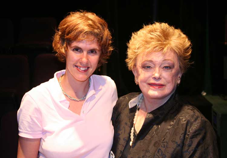 Cindy poses with Rue McClanahan