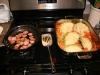 kielbasa and braised cabbage