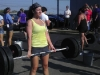 Stephanie on the deadlift ladder