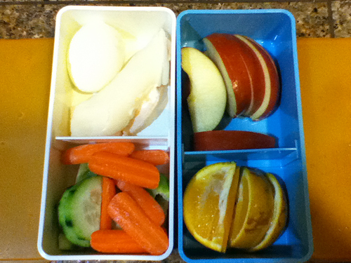Luke's bento lunch boxes for Tuesday