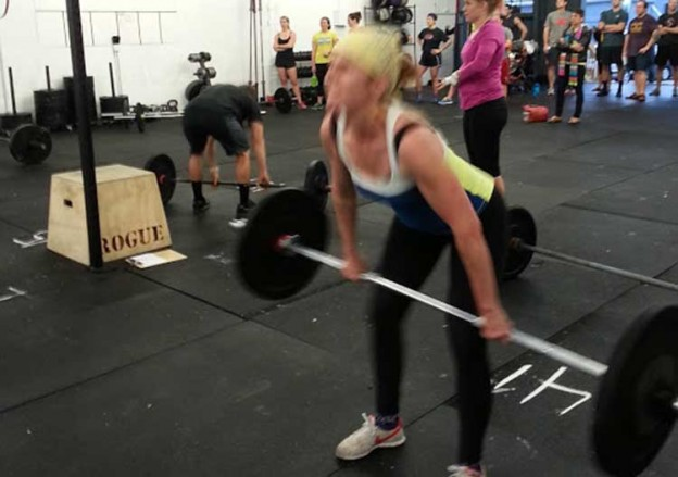 Hang power clean start position