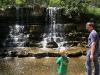 Waterfall in the prehistoric garden
