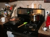 Pressure cooker on the stove top